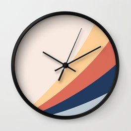 Abstract modern geometrical print color Wall Clock