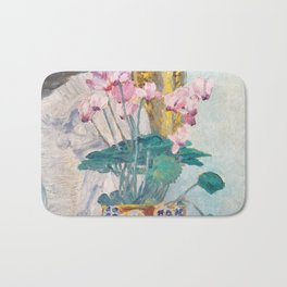 "Charles Rennie Mackintosh ""Cyclamen"" Bath Mat"