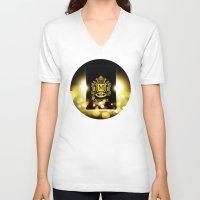 logo V-neck T-shirts featuring Logo by Azeez Olayinka Gloriousclick