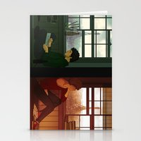 grantaire Stationery Cards featuring Enjolras & Grantaire by rdjpwns