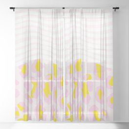 leopard, stripes & everything nice Sheer Curtain