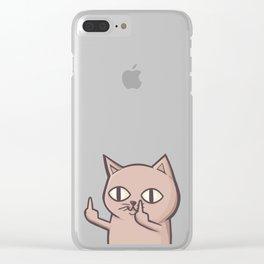 FU Cat Clear iPhone Case