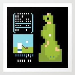 Minimal NES: Golf Art Print