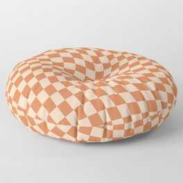 Check IV - Orange Twist — Checkerboard Print Floor Pillow