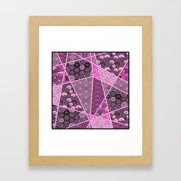 Abstract Artwork Pink Patterns Framed Art Print