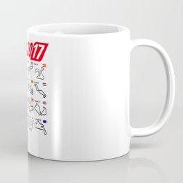 Calendar 2017 MotoGp circuits Coffee Mug