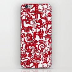 paper zodiac red iPhone & iPod Skin