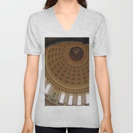 The rotunda of the Capitol building in Madison, Wisconsin Unisex V-Neck