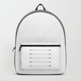 Minimal Dark Gray Arrows Backpack