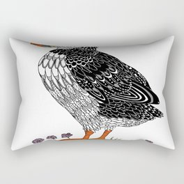 The puffin  in colou Rectangular Pillow