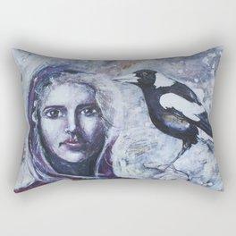Sacred Messengers Whispering Rectangular Pillow