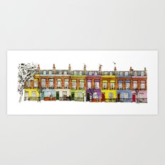 Hartland Road 1-15/Camden, London Art Print