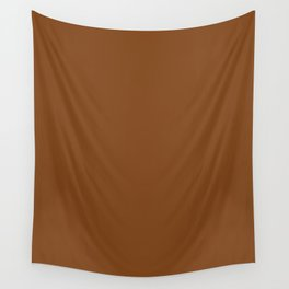 Russet - solid color Wall Tapestry