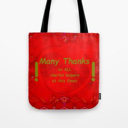 Just thanks in that times Tote Bag