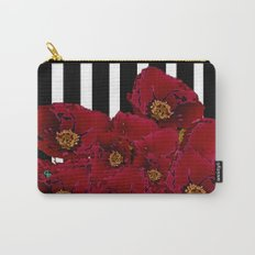 Poppy Stripes - Red Carry-All Pouch
