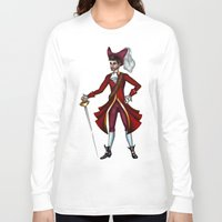 captain hook Long Sleeve T-shirts featuring Captain Hook by Callie Clara