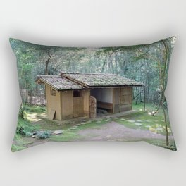 deserted teahouse in tatsuta park Rectangular Pillow