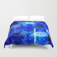 rothko Duvet Covers featuring Sapphire Nebulæ by Aaron Carberry