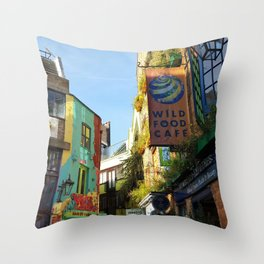 Cafes in an Alley Throw Pillow