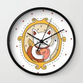 Maneki neko Wall Clock