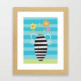 Whimsy Graphic Vase Framed Art Print