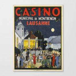 Advertisement lausanne casino municipal de Canvas Print