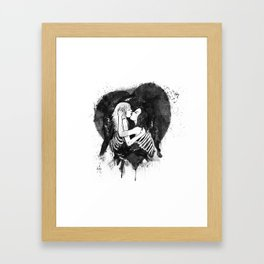 Love to the bones Framed Art Print