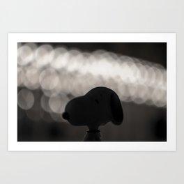 Snoopy Bokeh Art Print