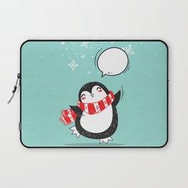 Cute Christmas Penguin Laptop Sleeve