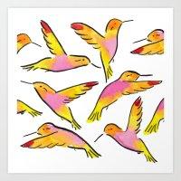 H Birds Art Print