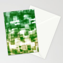 Green On Both Sides Stationery Cards