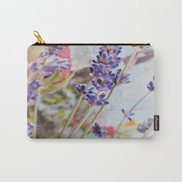 vintage motiv with roses and lavender Carry-All Pouch