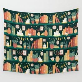 Hygge library Wall Tapestry