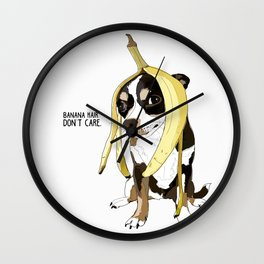 Banana hair?  Don't care.  Chihuahua. Wall Clock