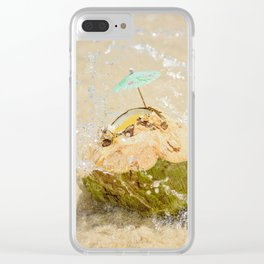Coconut Dreams Clear iPhone Case