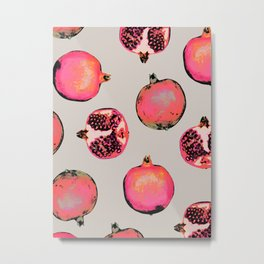 Pomegranate Pattern Metal Print