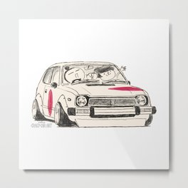 Crazy Car Art 0163 Metal Print