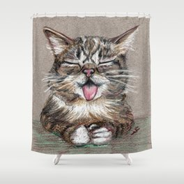 Cat *Lil Bub* Shower Curtain