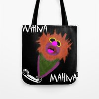 muppet Tote Bags featuring Mahna Mahna....great Muppet! by Linda V.