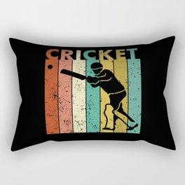 Cricket Bowler Bat Cricketer Gift Rectangular Pillow
