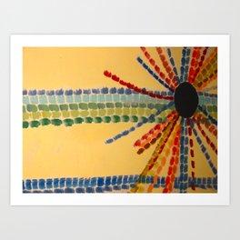 Indian Sun Streaked Art Print