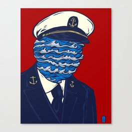 Captain of the Salty Waves Canvas Print