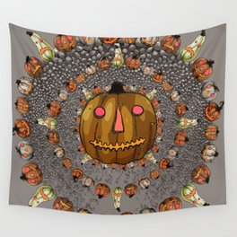 Halloween Pumpkins, a Cornucopia of Jack o' lanterns. spoopy Wall Tapestry