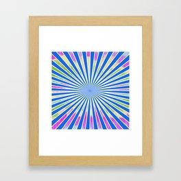 Geometric Stripes Framed Art Print