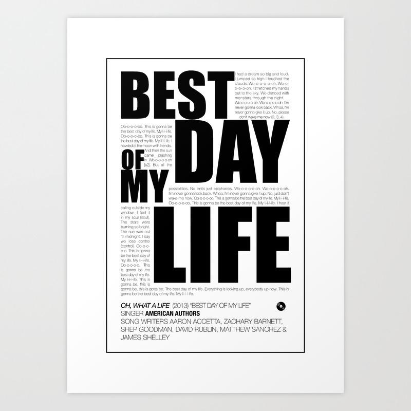 Best day Art Print