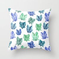 crystals Throw Pillows featuring Crystals by Marta Olga Klara
