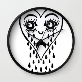 Crying Heart Wall Clock