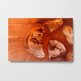 Windstone Arch, Fire Cave, Valley of Fire, Nevada Metal Print