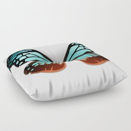 Butterfly Wings Blue Floor Pillow