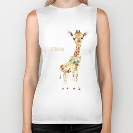 Be YOU tiful Giraffe Baby Biker Tank